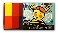 Filana (8 Blocks) Organic Beeswax Crayons- Paraffin-Free - Natural and Non-Toxic - Brilliant Colors - Handmade by your friends across the Pacific Ocean (in the USA)