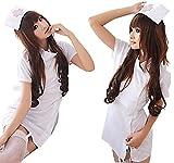 R-STYLE 可愛く 診察しちゃうぞ コスプレ 衣装 看護婦 ナース コスチューム セット (ホワイト)