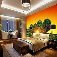 Lixiaoer カスタム3 D壁紙美しい愛の木の風景カスタム高品質壁画寝室の装飾の背景壁紙-280X200Cm