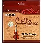 Alice A806 チェロ 弦 ストリングス セット クリーニングクロス付属