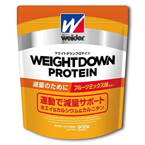 ウイダー ウエイトダウンプロテイン フルーツミックス味 900g (約60回分)  減量プロテイン カルニチン・ヒスチジン配合