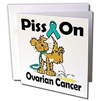 ドゥーニデザインズ意識リボンデザイン–Piss On卵巣癌意識リボン原因デザイン–グリーティングカード Individual Greeting Card
