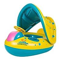 Domybest 赤ちゃんの水泳ボート 子供のインフレータブル水泳シート 水泳浮遊