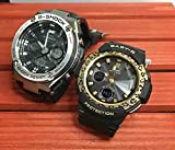 カシオCASIO 腕時計 G-SHOCK&BABY-G ペアウォッチ 純正ペアケース入り ジーショック&ベビージー 2本セット アナデジ Gスチール ソーラー電波 タフソーラー GST-W110-1AJF BGA-2100LP-1AJF