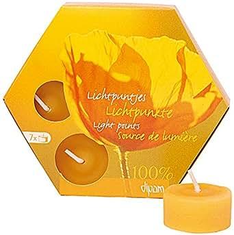 ディパン 100% 純粋 蜜ろう ティーライトキャンドル 7ヶ入り
