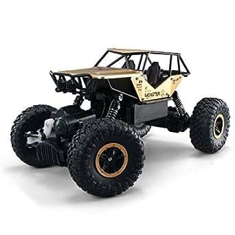 TAKUMI RCミニジープ 2.4Ghz ラジコンカー 四輪駆動 疾走 子供おもちゃ ミニカー 1:14比例 23 x 17 x 15cm 金