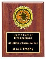 ハロウィン魔女Plaque Awards 7x 9木製Pumpkin Carving Trophy BestコスチュームTrophies Free Engraving