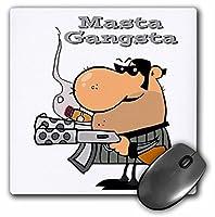 3drose LLC 8x 8x 0.25インチマウスパッド、Masta GangstaマスターGangster ( MP _ 118767_ 1)