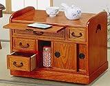 天然木桐・キャスター付便利な小袖机「和室用サイドワゴン」