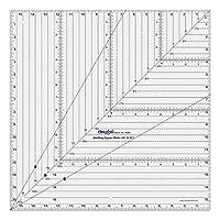 正方形形状設計およびCraftingキルトキルティングルーラーtemplate-サイズオプションAvailable 16x16 Inches Lino-CQR11