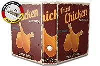 バインダー 2 Ring Binder Lever Arch Folder A4 printed fried chicken