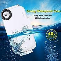 PULUZ iPhone 7 plus / 8 plus用の白い電話ダイビングケース40mシュノーケリングハウジング