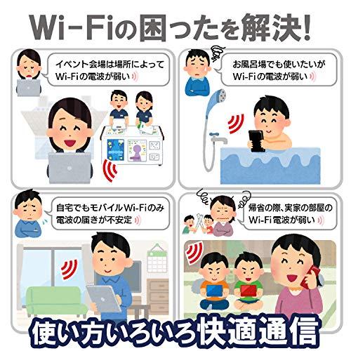 『エレコム WiFi 無線LAN 中継器 11ac/n/a/g/b ac1200 867+300Mbps ブラック 小型モデル デュアルバンド WTC-1167US-B』の6枚目の画像