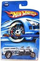 Hot Wheels Way 2 Fast Metallic Gray Flake With Flames 2006 #152 Scale 1/64 Collector