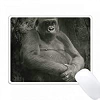 ゴリラの白黒写真 PC Mouse Pad パソコン マウスパッド