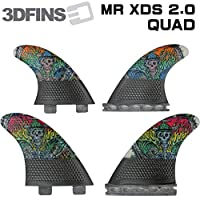 3DFINS 3Dフィン MOON RAKERR  XDS 2.0 カーボン クアッドフィン (FCSタイプ)