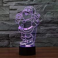 Wxmca 3D常夜灯7色ランプクリスマスプレゼント子供用おもちゃキッズランプ
