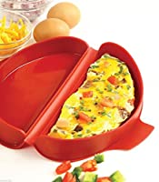 comixpro 930レッドシリコン電子レンジオーブンEgg OmeletパンメーカーCookerツールHealthy