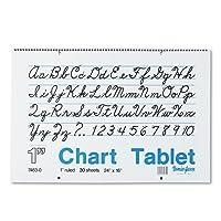 Pacon Corporationチャートタブレット1インチルール24x 16 74630