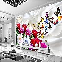 LJJLM 壁紙壁画[カスタマイズされたリビングルームの寝室のソファテレビ背景花富中国古典豊かな牡丹-200X150CM