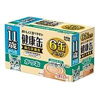 箱売り アイシア 11歳からの健康缶 かつお 40g×6P 猫 フード 1箱12個入 超高齢猫用