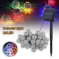 LIXADA ソーラーストリングライト 20/30/50LED DIY壁飾り モロッコ風の電球 8つ照明モード 屋外ランプ 装飾照明 クリスマス 結婚式 パーティー アウトドアに適用