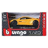 Burago 1:43 McLaren 12C GT3 Yellow Display ミニカーミニチュアカー [並行輸入品]