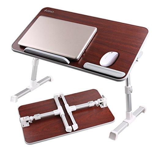 ARINO 折りたたみテーブル ノートパソコンテーブル ロータイプ 机上台 高さ 角度調節可能 PCデスク フロアデスク ベッド ソファー オフィス アウトドア用 日本語説明書付き