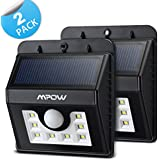 Mpow ソーラーライト センサーライト 屋外照明/軒先/壁掛け/庭先/玄関周りなどのライト 夜間自動点灯(2点セット)