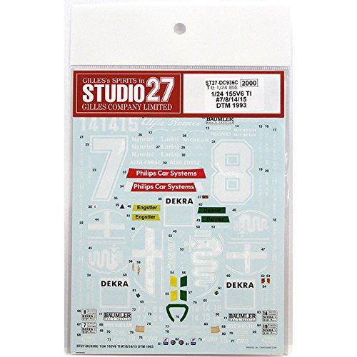 スタジオ27 1/24 アルファロメオ 155 V6 TI #7/8/14/15 DTM 1993 デカール タミヤ対応 STUDIO27