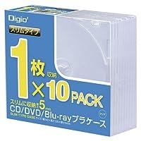 ナカバヤシ CDプラケ-ススリム10パック CD-084-10 00025124【まとめ買い10個セット】
