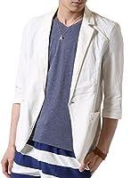 d9fa39c4e6ccea (アーケード) ARCADE 春夏 メンズ サマージャケット 绵麻 テーラードジャケット リネン 7分袖 細身 タイト ジャケット