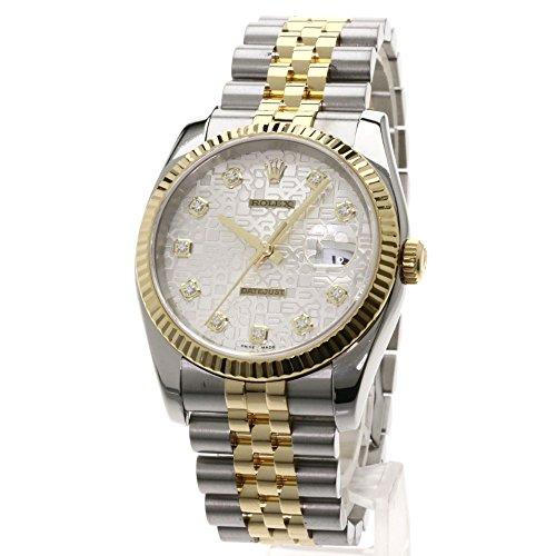 ROLEX(ロレックス) デイトジャスト 10Pダイヤモンド 腕時計 ステンレス/SSxK18YG メンズ (中古)