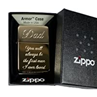 ライター – Golden Dad You Will Always Be the First Man I Ever Loved ( Engraved byヒップフラスコプラス) on Zippo 169真鍮