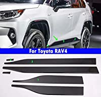 6Pcs 車車のドアトリム車の四ドアトリムストリップ 黒 適している For Toyota RAV4 2019 2020 (黒)