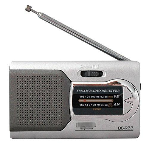 GAOHOU ミニラジオ AM/FM多機能 テレスコピックア...
