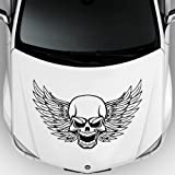 フードカーデカールステッカービニールdesignsugarスカル音楽8個Born Way Scandal Singer Wings m176C