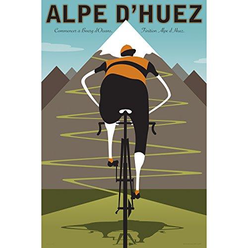 Alpe d 'huez Cyclingアートプリント
