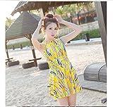 レディース水着オールインワン 体型カバー 可愛い花柄女性用ワンピース型水着,適切な水泳、サーフィン、ビーチ、ラフティング、温泉