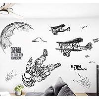 自己接着壁紙リムーバブル家具寝室用アートウォールステッカー、アートデカール引用符自己接着装飾リムーバブル壁紙、寝室用ウォールステッカーマルチスタイル,D