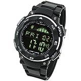 [LAD WEATHER] タイドグラフ腕時計 ムーンデータ ペースメーカー、月齢表示 釣り/サーフィン/ダイビング 反転液晶
