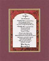 Touching and Heartfelt拡張ファミリのメンバーの詩–に娘と夫Poem on 11x 14インチDouble Beveled Matting