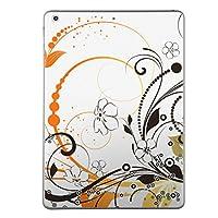 iPad Air2 スキンシール apple アップル アイパッド A1566 A1567 タブレット tablet シール ステッカー ケース 保護シール 背面 人気 単品 おしゃれ フラワー 花 フラワー オレンジ 005753