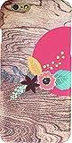 SamuraiAgent 夕日に花模様 ガーリー デザイン ケース ハードケース for iPhone 6s / iPhone 6 (4.7インチ) (エキゾチック) ブラウン