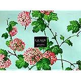 ラルフローレン 春/夏 青地に咲くピンクのアジサイの花   14 x 19インチ / 4枚セット   コットン100%