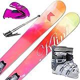 スキー5点セット KLINT HAZE 121cm ブーツ25cm ストック105cm レディースグローブ ワクシング施工