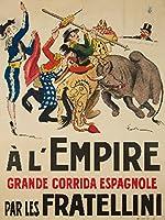 A L 'empire–Les Fratelliniヴィンテージポスター(アーティスト: Fernel )フランスC。1925 36 x 54 Giclee Print LANT-61410-36x54