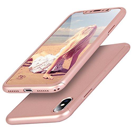 iPhone X ケース Imikoko iPhoneX 360度フルカバー 全面保護 防爆ソフトフィルム  耐衝撃 アイフォンX 薄型