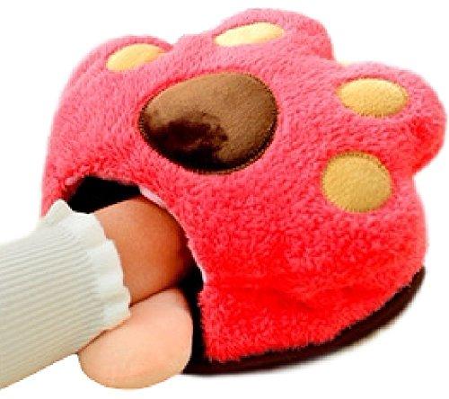 (Miwoluna) ハンドウォーマー ヒーター付き マウスパッド USB接続でホッコリあったか 猫 にゃんこ デザイン (ピンク)