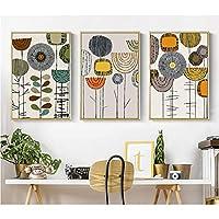 クリエイティブ抽象花装飾画プリント画像壁アートキャンバス絵画装飾用リビングルーム/非フレーム/ 50 * 70センチ
